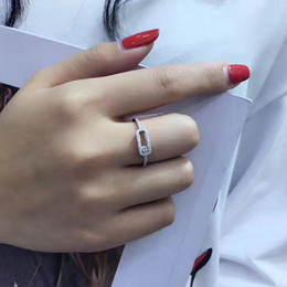 Wholesale Handmade Rings 925 - Newest Handmade Sterling Silver 925 Jewelry , can move stone Ring Fashion Design Women Silver Jewelry High Quality for best gift