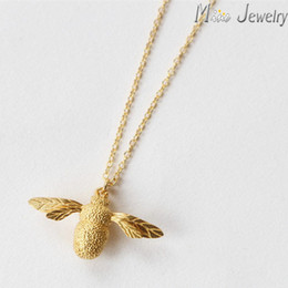 Wholesale Bee Link - Wholesale-Drop Shipping Cute Bee Necklace & Pendant For Women Necklaces Jewelry Collar Colar