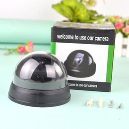 Wholesale Garden Products - Simulation Camera Monitor Dummy camera For kids Hemispheric With Light 9*9*7cm ABS Flashing light Garden Tricky Product Free Shipping
