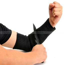 Wholesale Wire Guard Protectors - Wholesale- 1 Pair Steel Wire Cut Proof Anti Abrasion Stab Resistant Armband Sleeve Guard Bracers Safety Arm Guard Bracers Protector