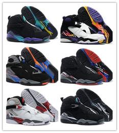 Wholesale Aqua Flats - 2017 air retro 8 VIII Basketball Shoes men high quality Sneakers Cheap Retro VIII Aqua retro 8 Sports Boots Free Shipping