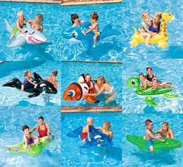 Wholesale Large Inflatable Animals - kids Inflatable Pool Float Raft Boat Summer Outdoor Swimming Pool Party Lounge Raft Ride-On Water Toys WD201AA