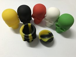 Wholesale Screw Skull - DHL Free Assorted colors Skull Screw Top NonStick Silicone Container non-stick wax dab container silicone jar for wax vaporizer