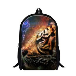 Wholesale Tiger Leopard Dresses - Dispalang 3D Animal Backpacks Cool Tiger Print School Bags For Boys Students Children's Shoulder Book Bag Lion Leopard Rucksack