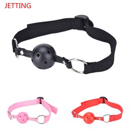 Wholesale Oral Fixation Sex - Sex Open Mouth Gag Harness Oral Fixation Nylon Band Ball Gag Mouth Plug Adult Restraint Slave Bondage Sex Toys for Couples