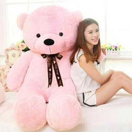 Wholesale Teddy Bear 2m - 2m Giant teddy bear soft huge plush stuffed toy brown white toys embrace kid baby doll birthday valentine gift girls
