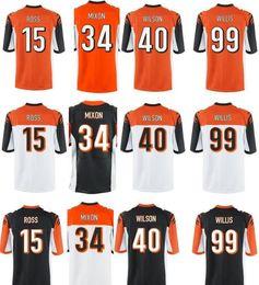 Wholesale Football Pick - Draft Pick NO.9 John Ross Jersey Joe Mixon Willis Anthony Munoz Cheap Mens Orange American Football Jerseys Accept Mix Orders
