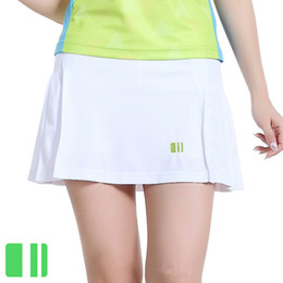 Wholesale Thin Girls Short Skirts - Wholesale- 2016 Sports Thin Skirts Girl Pleated Short Skirt Women's Half-length Tennis Ball Culottes Badminton Skort with shorts leggings