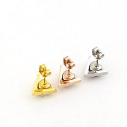 Wholesale Crystal Diamond Heart Shape - Korean version of the new V letter heart women stylish titanium zirconium Diamond Earrings heart-shaped diamond hypoallergenic Earrings