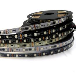 Tira de led ws2811 negro online-WS2811 tira led 5m 48leds / m 16pcs ws2811 ic / m 5050 smd rgb dc12V blanco / negro PCB flexible 2811 tira led direccionable digital pixel light