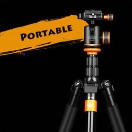 Wholesale Camera Single Stand - Wholesale- SL288 Professional Light Weight Compact Aluminum DSLR Camera Tripod Monopod Stand With Panoramic Ball Head Portable Tripod Bag
