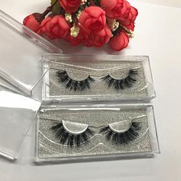 Wholesale Super Long False Eyelashes - Super Soft natural 3D false eyelashes real mink lashes 10pcs lot thick fake faux eyelashes Makeup Seashine beauty Free shipping