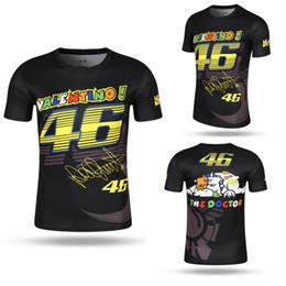 Wholesale Race Crew Shirts - ZUOMIYA Valentino Rossi VR46 46 Shark Motocross Jerseys bike Cycling Racing Motorcycle Bicycle Motor QUICK-DRY Short Sleeve T shirt Tee 01