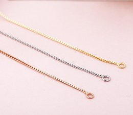 Wholesale Italy Gold Necklace - hot sale Fashion jewelry gold rose gold silver 3 colors italy S925 sterling silver choker neckalce