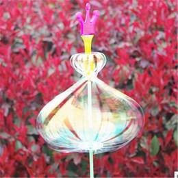 Wholesale Toy Colorful Led Light Sticks - Beautiful LED Light Sticks Amazing twister flash magic wand flower colorful ribbon bar bubble wand children LED toys