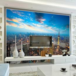 Обои для стен 3D ночной фон декорации гостиная / постельные принадлежности Rom телевизор диван - кровать настенная роспись стены фарфора город большие обои от