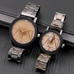 Wholesale England Watch - New England Fashion Mechanical Men's Wristwatches Compass Stainless Steel Automatic Movement Lovers Watches Alloy Straps Watches Wristwatch