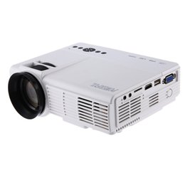 Wholesale Led Pixel Lamps - Wholesale-2016 Newest White Led Lamp Projector POWERFUL Q5 Portable Home Theater 1000 Lumens 480 x 320 Pixels Multimedia HD LCD Projector