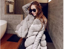 Wholesale Quilted Fleece Jacket - New fur women's coat 2017 autumn winters day han2 ban3 haining leather long-sleeved long women quilted jacket fur cotton-padded clothes B019