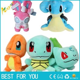 Wholesale Turtle Mini Toys - Poke Mon Poké mon Plush dolls toys 15cm children Pikachu gengar Lapras Charmander Bulbasaur Jeni turtle Plush dolls