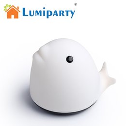 Wholesale Clap Lights - Wholesale- LumiParty Whale Colorful Changing Touch LED Night Light Clap Decompression USB Rechargeable Nightlight Mobile Phone Support