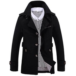 Wholesale Jacket Coat Men New Style - Wholesale- 5XL, 2016 New Men's Jackets Fashion Slim TrenchCoat Casual Coats Men Full Style Windbreaker Solid Business Brand Clothing LA071