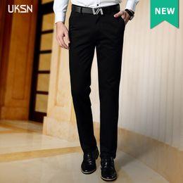 Wholesale Men Ivory Dress Pants - Wholesale- 2016 Winter Fashion Mens Slim Khaki Casual Pants Male Suit Chino Dress Trousers Formal Zipper Clothing Plus Size