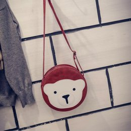 Wholesale Small Monkey Wholesale - newly Cartoon cute bag shoulder bags monkey small crossbody bags Korean fashion preppy student bag girl swagge bags XN-FB010