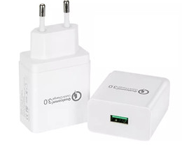 Wholesale Ipad Data Power Cable - Best Quick Charge 3.0 18W USB Wall Charger,Power Adapter for Galaxy S7   S6   Edge iPhone 6S   7 iPad EU plug
