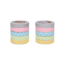 Wholesale Color Masking Tape - Wholesale- 2016 5 pcs pack Candy Color Rainbow Washi Tape Adhesive Tape DIY Scrapbooking Sticker Label Masking Tape