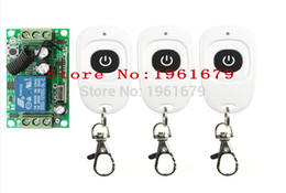Wholesale Rf 315mhz - Wholesale- DC 12 V 1ch RF 315mhz wireless remote control switch 1 X receiver &3 X transmitter with one button