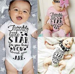 Wholesale Stars Baby Clothing - Baby Bodysuit Rompers Cotton Newborn Boy Girl Bodysuit Jumpsuit Playsuit Outfits Girl Twinkle Star Print Baby Clothing