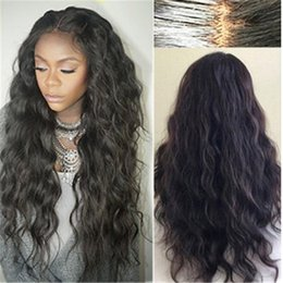 Wholesale Long Black Wigs For Women - 8A Brazilian Wet and Wavy Full Lace Human Hair Wigs For Black Women Glueless Natural Water Wave Lace Front Wigs With Baby Hair