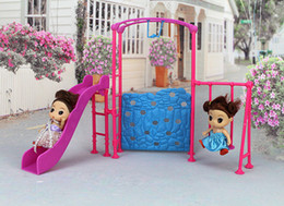 Wholesale Park Playing - NK One Set Doll Accessories Park Slide swing Toys Amusement Devices For Barbie 1 6 Doll's Kindergarten girl play house