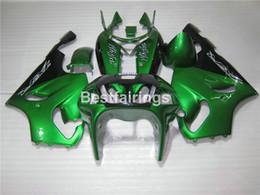 Karosserie Verkleidungskit für Kawasaki Ninja ZX7R 96 97 98 99 00 01 02 03 grün schwarz Verkleidungen Set ZX7R 1996-2003 TY04 von Fabrikanten