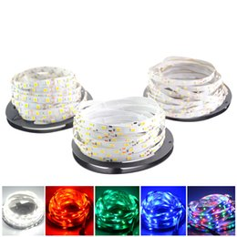 Wholesale Warm Cool Pure White Led - LED Strips 5m set 5630 5050 3528 SMD 60led LED Strip Light Waterproof Flexiable LED Strips 300LED Cool Pure Warm White Red Blue