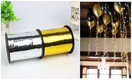 Wholesale Gift Package Ribbon - Balloon accessories Ballon decorations globos ribbon Wedding inflatable birthday party decorations Gift box packaging 250 yards
