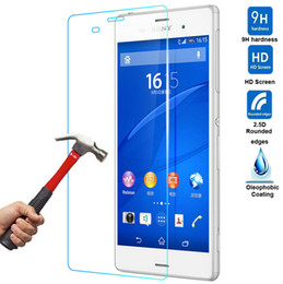 Wholesale xperia z l36h - Tempered Glass Film For Sony Xperia Z2 L50W Z3 L55 Z4 Z3 Plus Z5 Mini A5 Z3 Compact Screen Protector 9H Anti Scratch 0.26mm Protective Film
