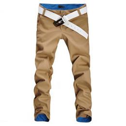 Wholesale Slim Straight Pants Men Wholesale - Wholesale-2016 Hot sale men's casual cotton pants Slim Fit Straight Style high quality fashion new design men's pants 9 colors size 29~34