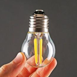 Wholesale Emergency Led E27 4w - Wholesale- Free shipping Retro COB LED Filament Light lamp E27 2W 4W 110V   220V G45 Clear Glass Shell Vintage Edison Led Bulb