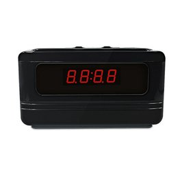 Wholesale Hidden Video Cameras For Home - Hidden Camera Alarm Clock Full HD 720P Motion Activated Spy Camera Video Monitor Nanny Cam For Home Security survillance Camera Black