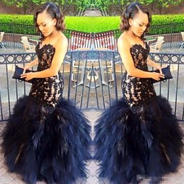 Wholesale One Sleeve Girl Pageant Dresses - 2017 African Puffy Tulle Mermaid Prom Event Dresses For Black Girls Sweetheart Lace Appliqued Gorgeous Evening Event Party Pageant Gown