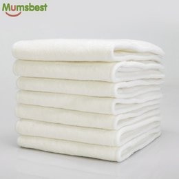 Wholesale Microfibre Diapers - [Mumsbest]10Pcs 4 Layers Bamboo & Microfibre Inserts For Baby Cloth Diaper Cover Reusable Washable Liners For Pocket Cloth Nappy