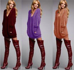 Wholesale Led Panel T Shirt - Autumn And Winter 7 Color V Lead Pocket Long Sleeve T Shirt Skirt Jacket