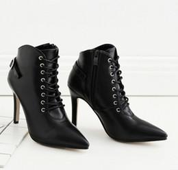 Coreano novo tornozelo botas on-line-Frete grátis comércio exterior novo sul-coreano versão botas curtas com saltos altos e botas de tornozelo em topless 370