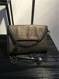Wholesale Mini Plums - 2018 MINI luxuy falabella Stella MC flap shoulder bag lady crossbody shoulder bag real picture