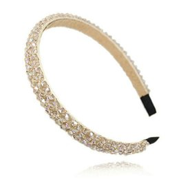 Wholesale Modern Headbands For Women - Fashion Shining Full Crystal Modern Style Rhinestone Headband Hairbands Headwear Hair Accessories For Girl Women Wedding Jewelry