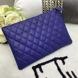 Wholesale Purse Handbag Clutch Envelope - M189 Women Clutch Brand designer Handbag Purse original box genuine leather new fashion 2017 genuine high quality luxury famous
