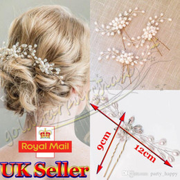 "Wholesale Vintage Pearl Wedding Hair Combs - ""Vintage Wedding Bridal Pearl Flower Crystal Hair Pins Bridesmaid Clips Side Comb"