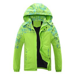 Wholesale Girls Coat Jacket Waterproof - Wholesale- autumn and winter girl boy coat thickening hood Ski Jacket big boy and gril windproof waterproof outdoor hiking jacket